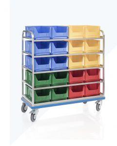 Carro de estantes sobre ruedas G®-ORG E 2801 / 6