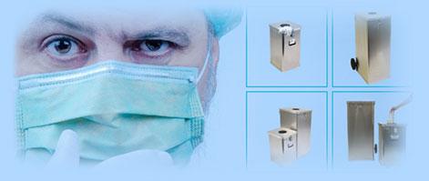 Contenedores de residuos sanitarios COVID19
