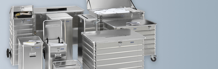 Contenedores de aluminio para documentos confidenciales
